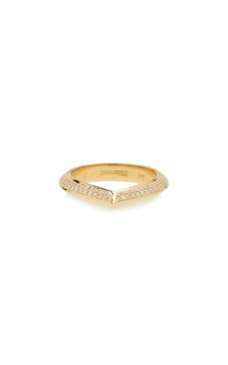 MIANSAI | MIANSAI 14K Gold Diamond Ring | Goxip