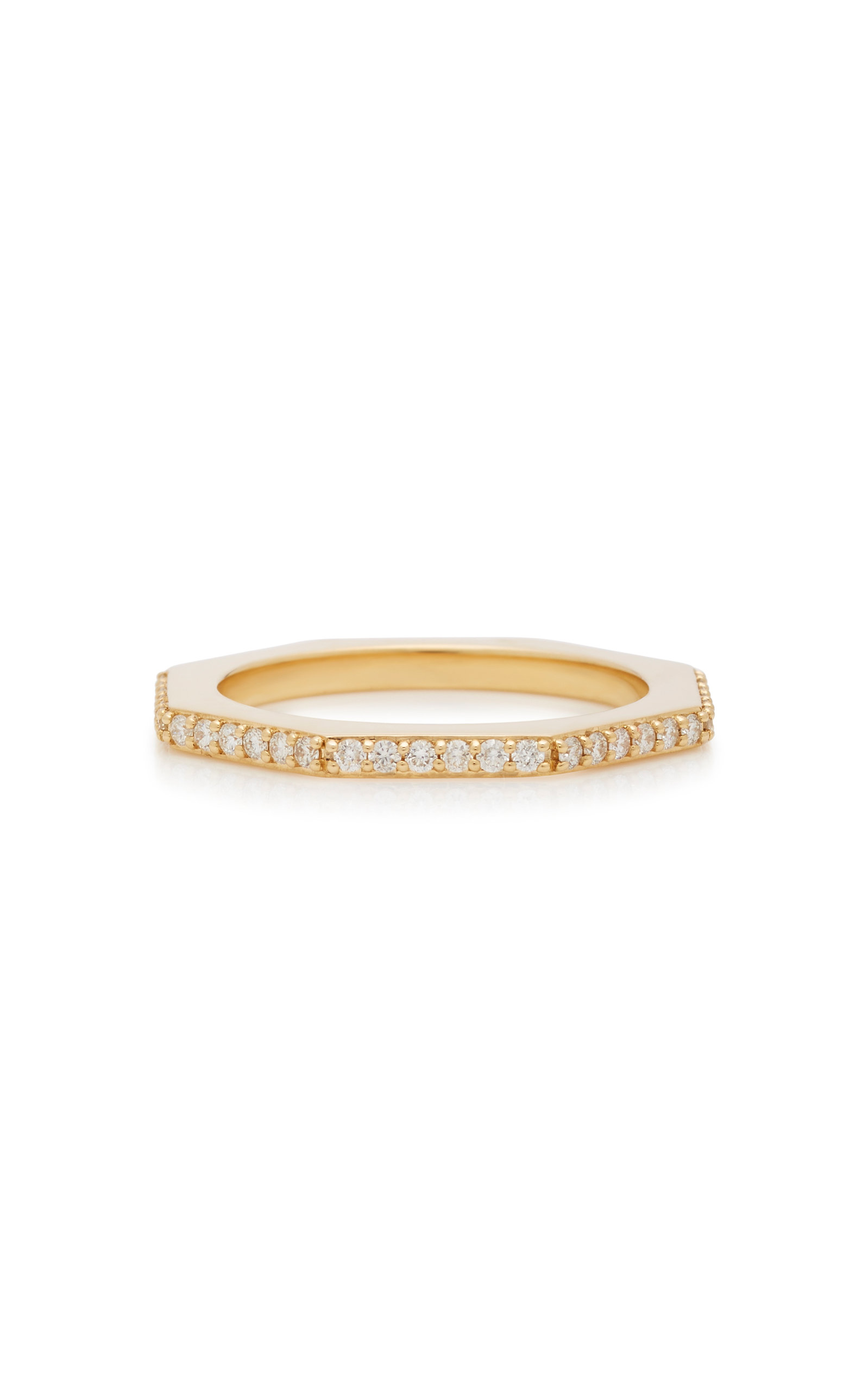 MIANSAI   MIANSAI Bly 14K Gold Diamond Ring   Goxip