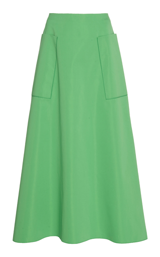 CYCLAS | Cyclas Side-Pocket Cotton-Blend Skirt | Goxip