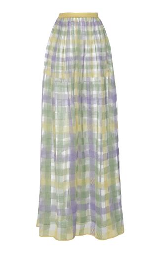 CYCLAS | Cyclas Plaid Cotton-Blend Skirt | Goxip