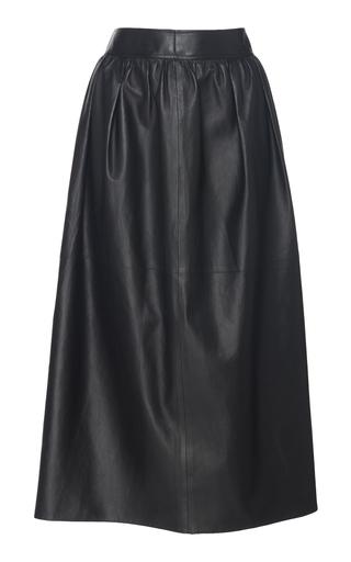 CYCLAS | Cyclas Gathered Leather Skirt | Goxip