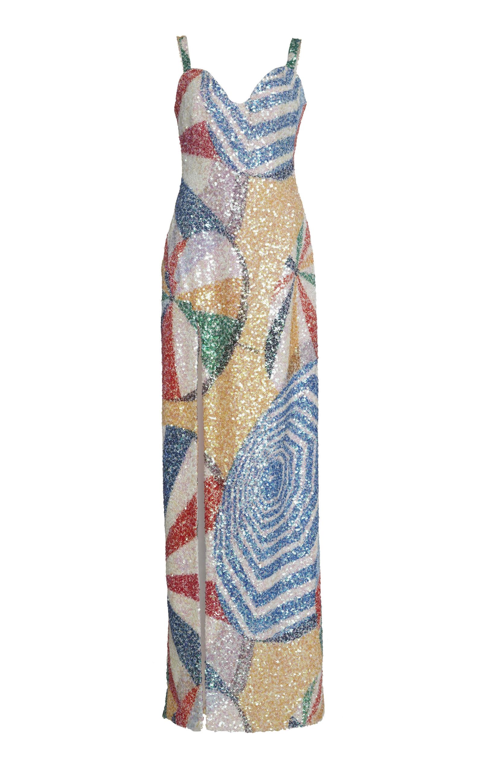 bd3e148390 Parasol Brilliant Printed Sequin Dress by Sandra Mansour | Moda Operandi