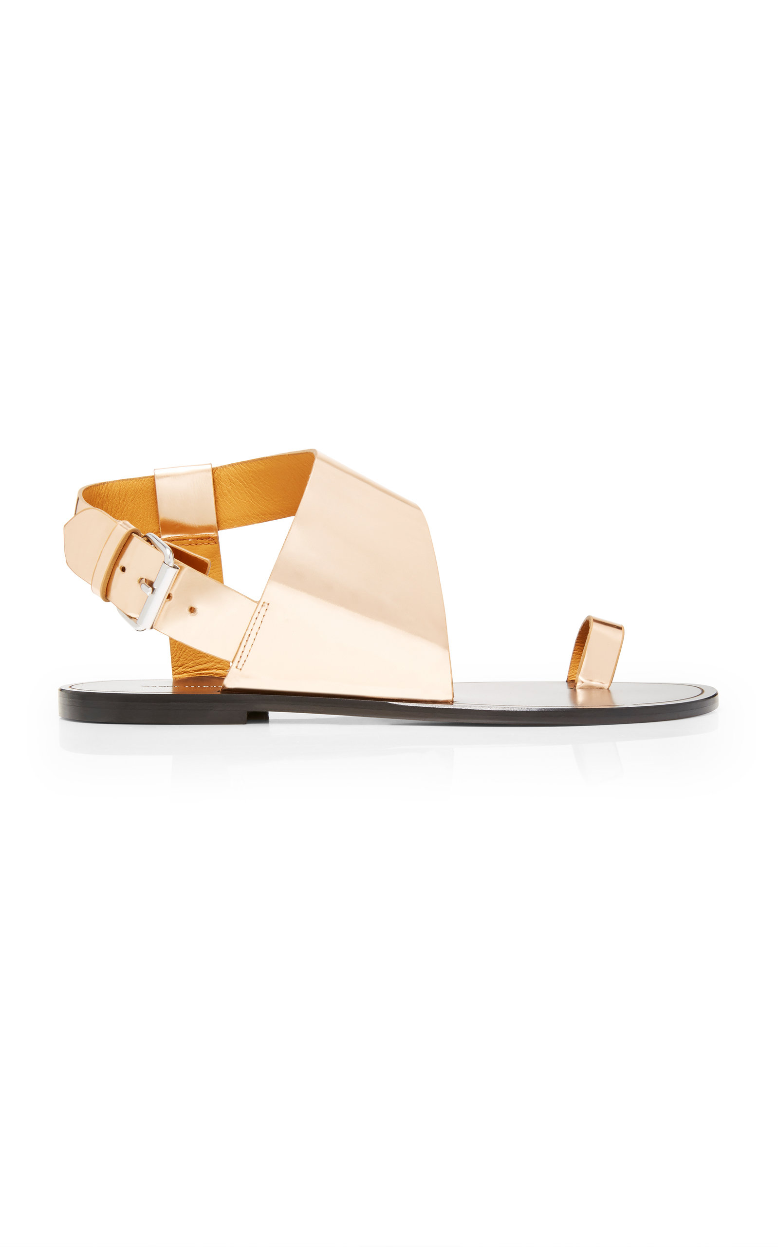 82ad6fc9c08 Jostee Metallic Leather Sandals in Gold