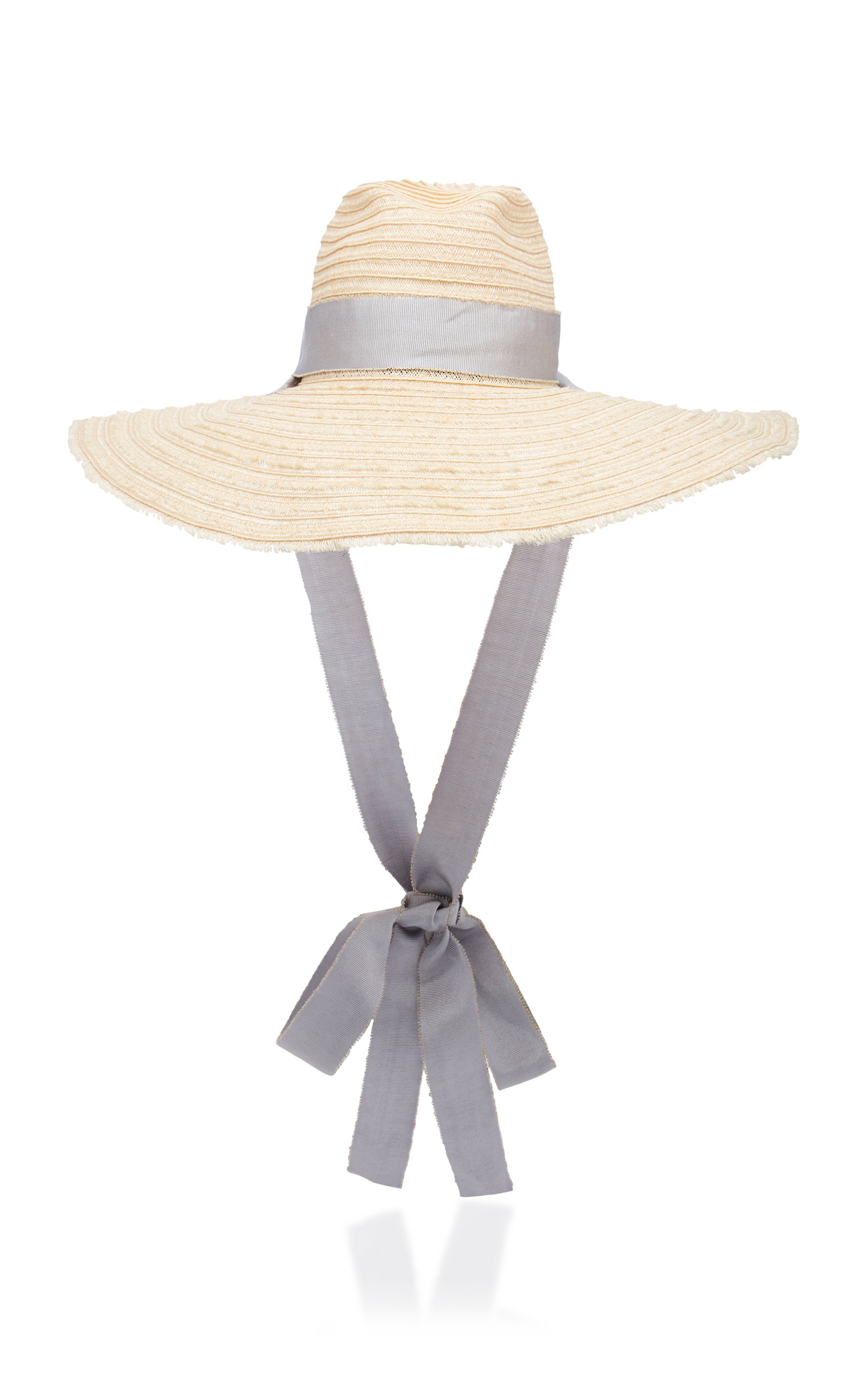 3030f2cd03725 Filu Hats Mauritius Grosgrain-Trimmed Straw Hat