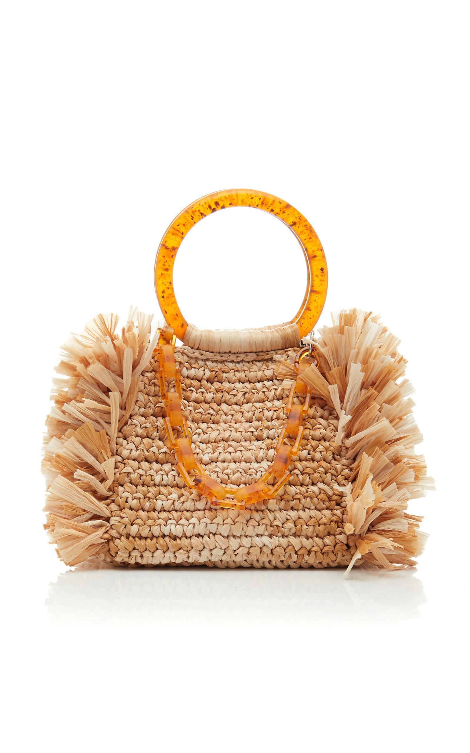 Clina Raffia Bag