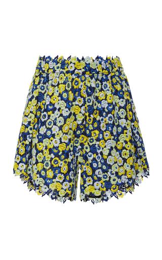 CECILIE BAHNSEN | Cecilie Bahnsen Rane High-Waisted Pleated Macrame Shorts | Goxip
