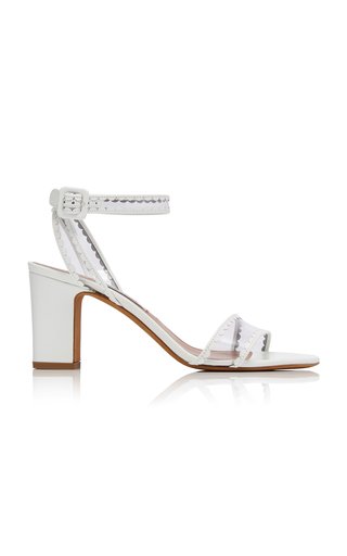 TABITHA SIMMONS | Tabitha Simmons Leticia Patent-Leather And PVC Sandals | Goxip