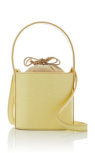 STAUD | Staud Bissett Mini Croc-Effect Leather Bag | Goxip