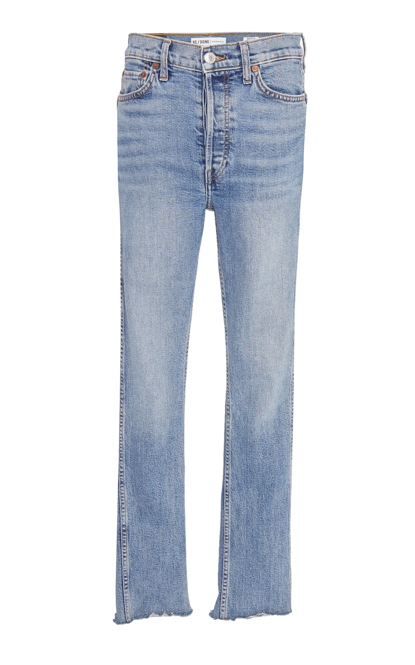 9f2e4ac5da3d6 Double-Needle High-Rise Straight-Leg Jeans by Re done