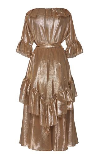 45335e6a70 Lisa Marie FernandezLaura Ruffled Lamé Midi Dress