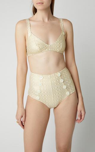 c6abf75df1a5b Lisa Marie FernandezMagdalena Button-Detailed High-Waisted Bikini