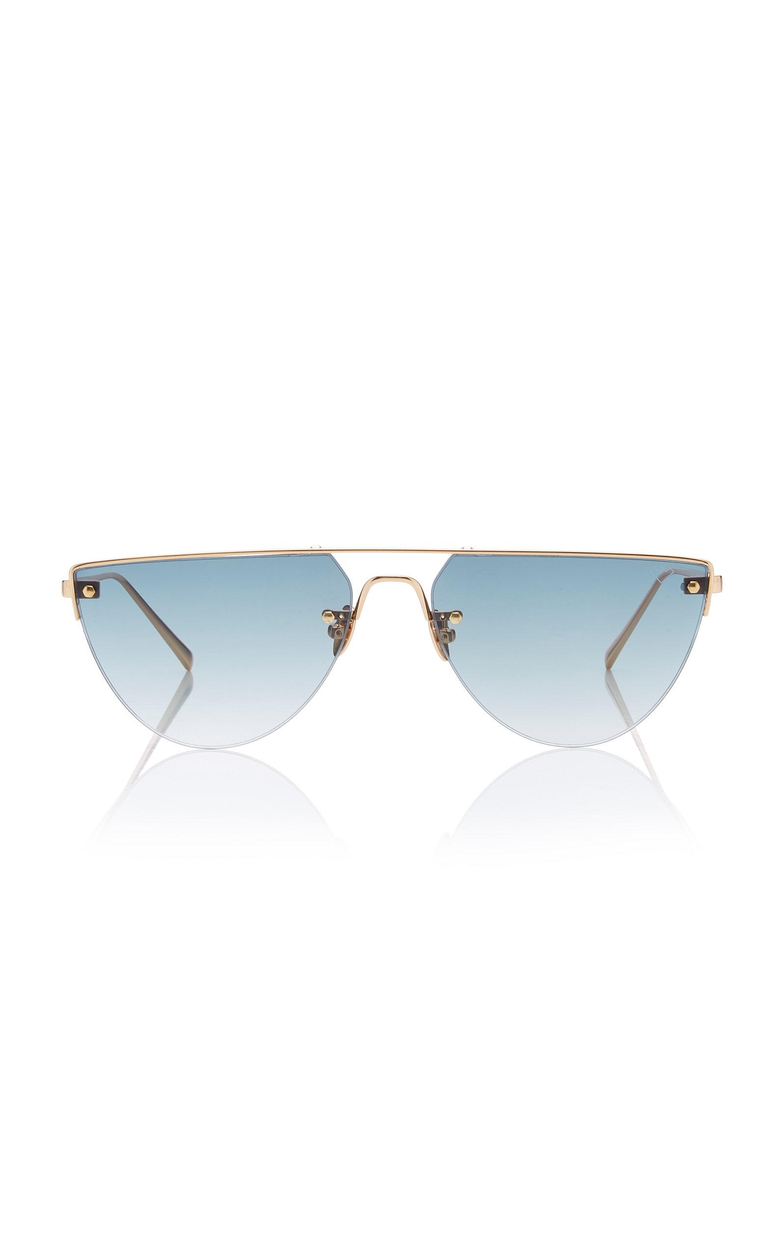 SPEKTRE Corsaro D-Frame Gold-Tone Sunglasses in Blue
