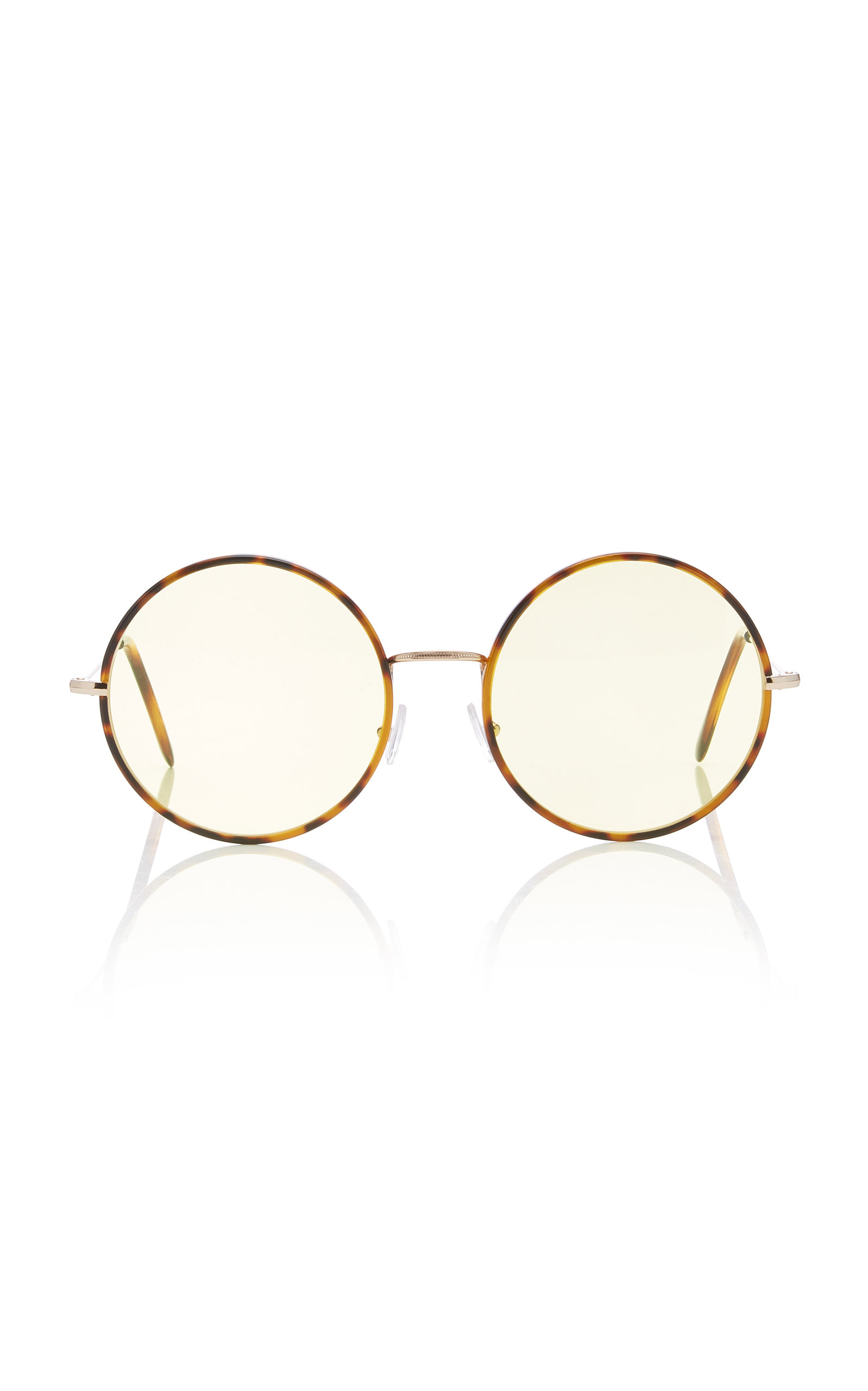 SPEKTRE Yoko Round-Frame Acetate Sunglasses in Yellow