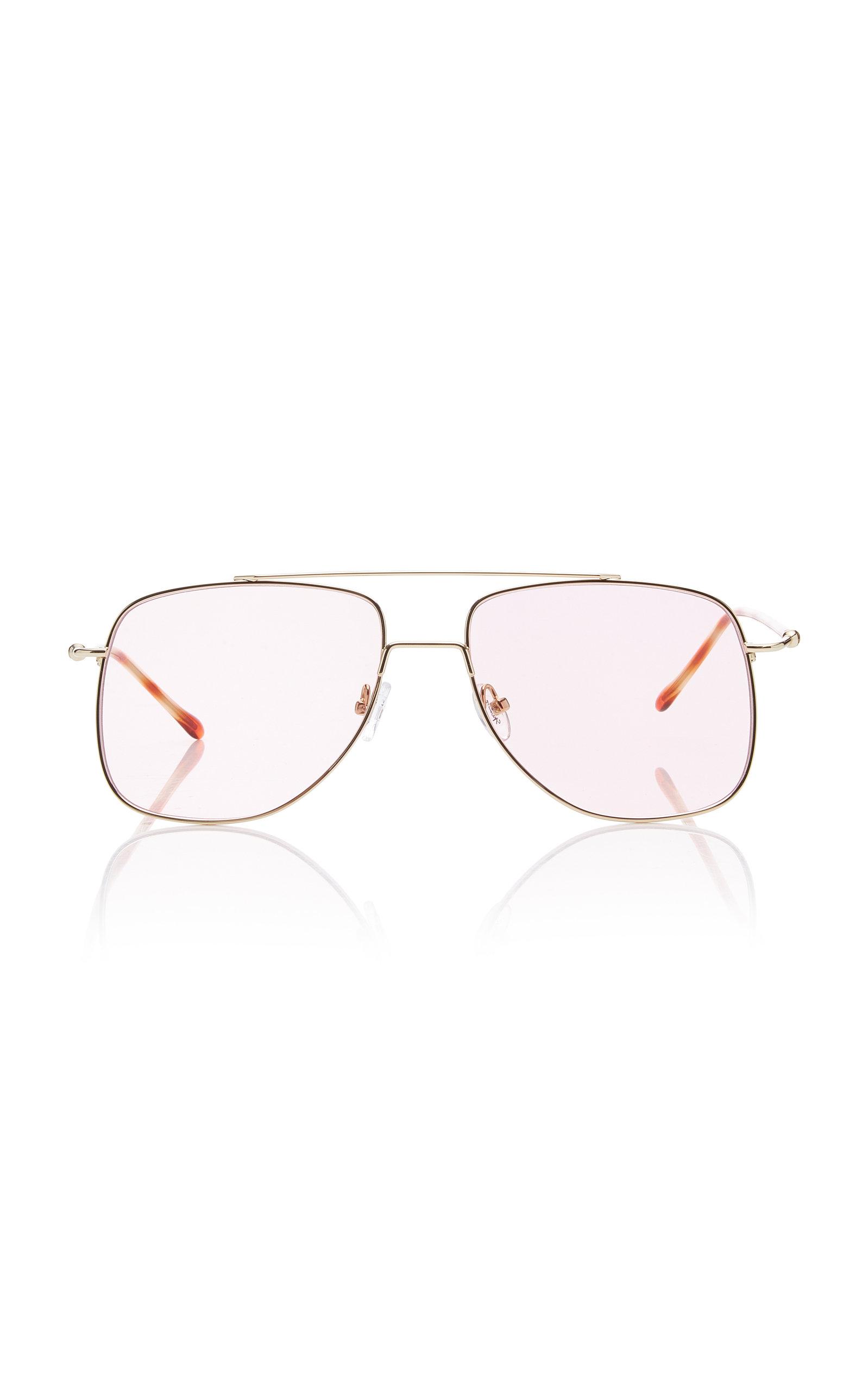 SPEKTRE Maranello Aviator-Style Silver-Tone Sunglasses in Pink