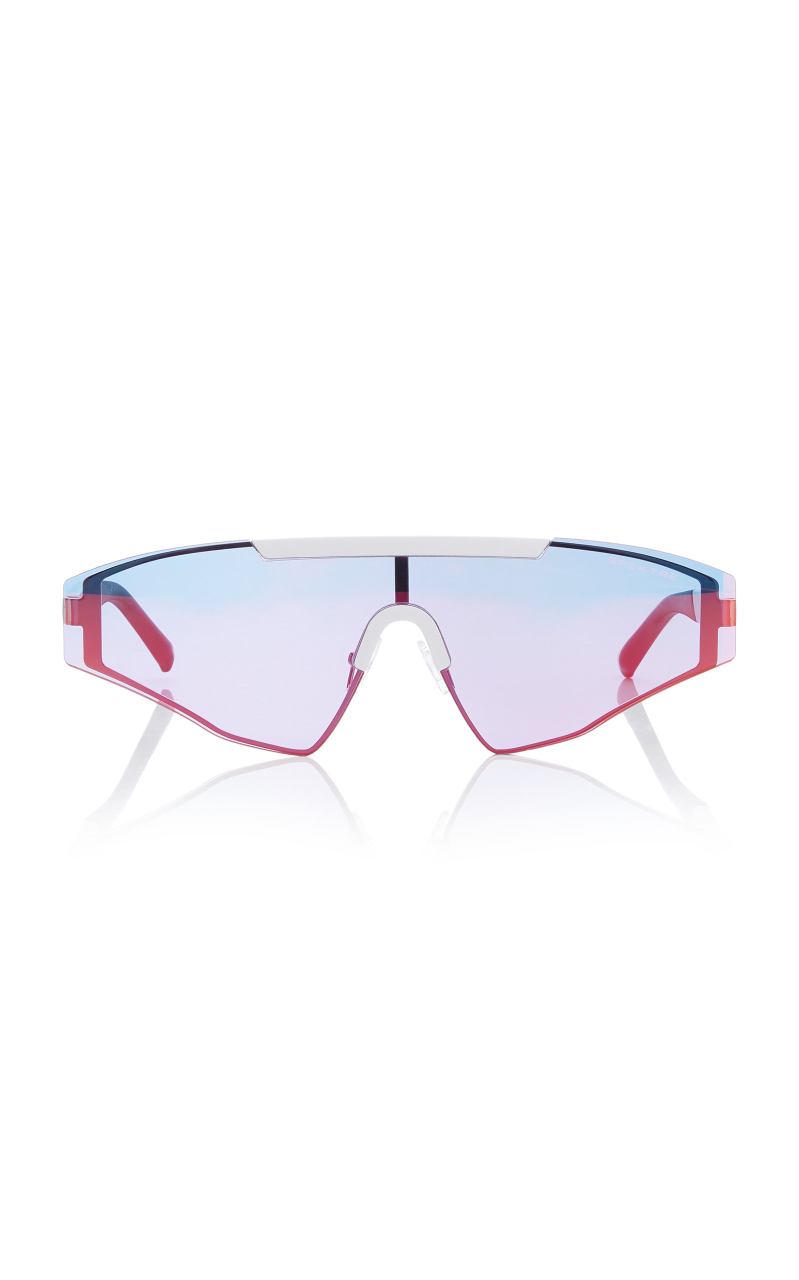 SPEKTRE Vincent Aviator-Style Gunmetal-Tone Sunglasses in Blue