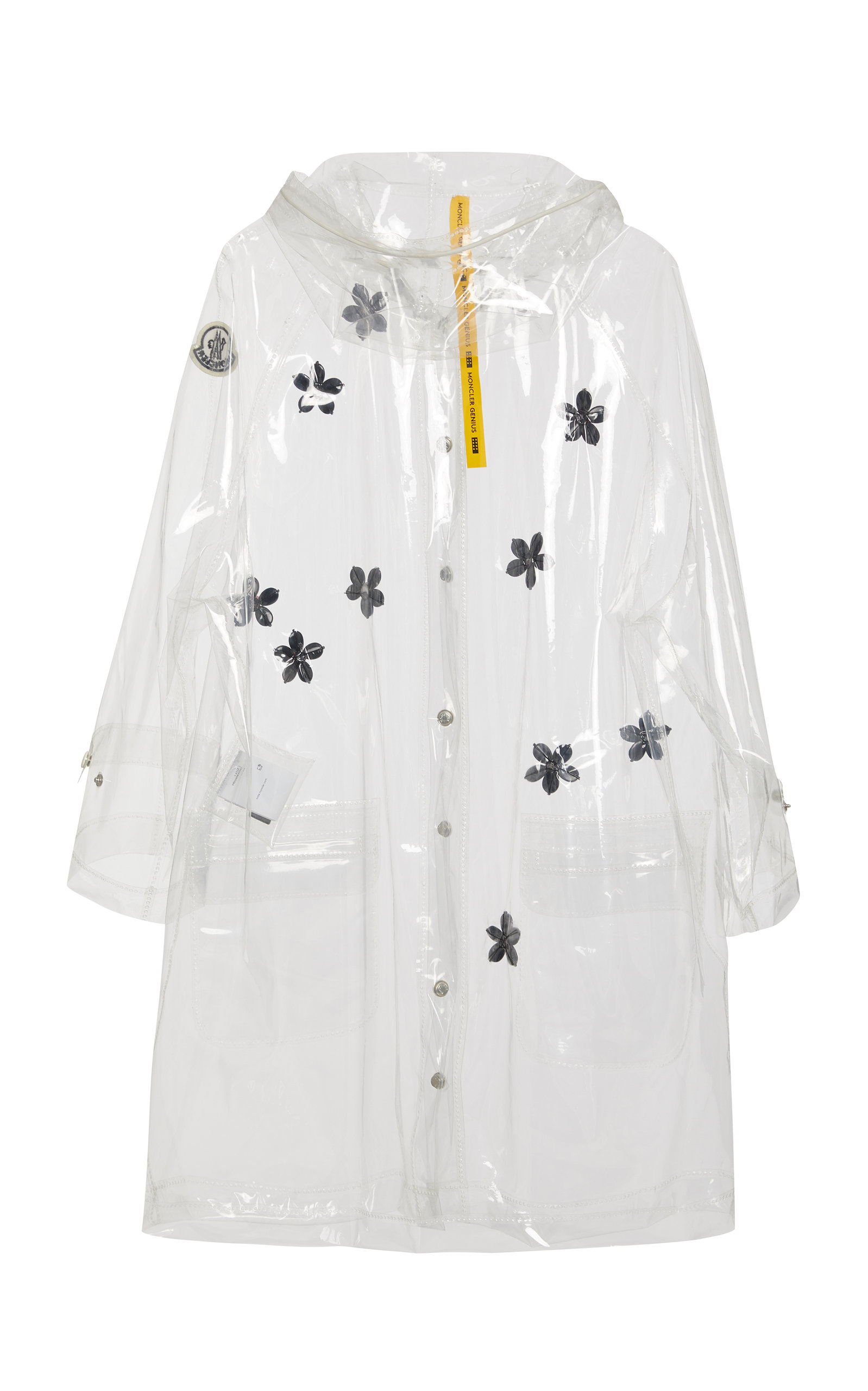 7a8bab2f6 + Simone Rocha Floral-Appliquéd PVC Hooded Raincoat
