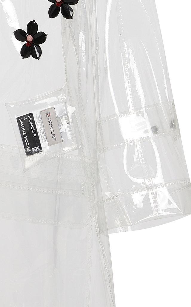 89ac076132 + Simone Rocha Floral-Appliquéd PVC Hooded Raincoat