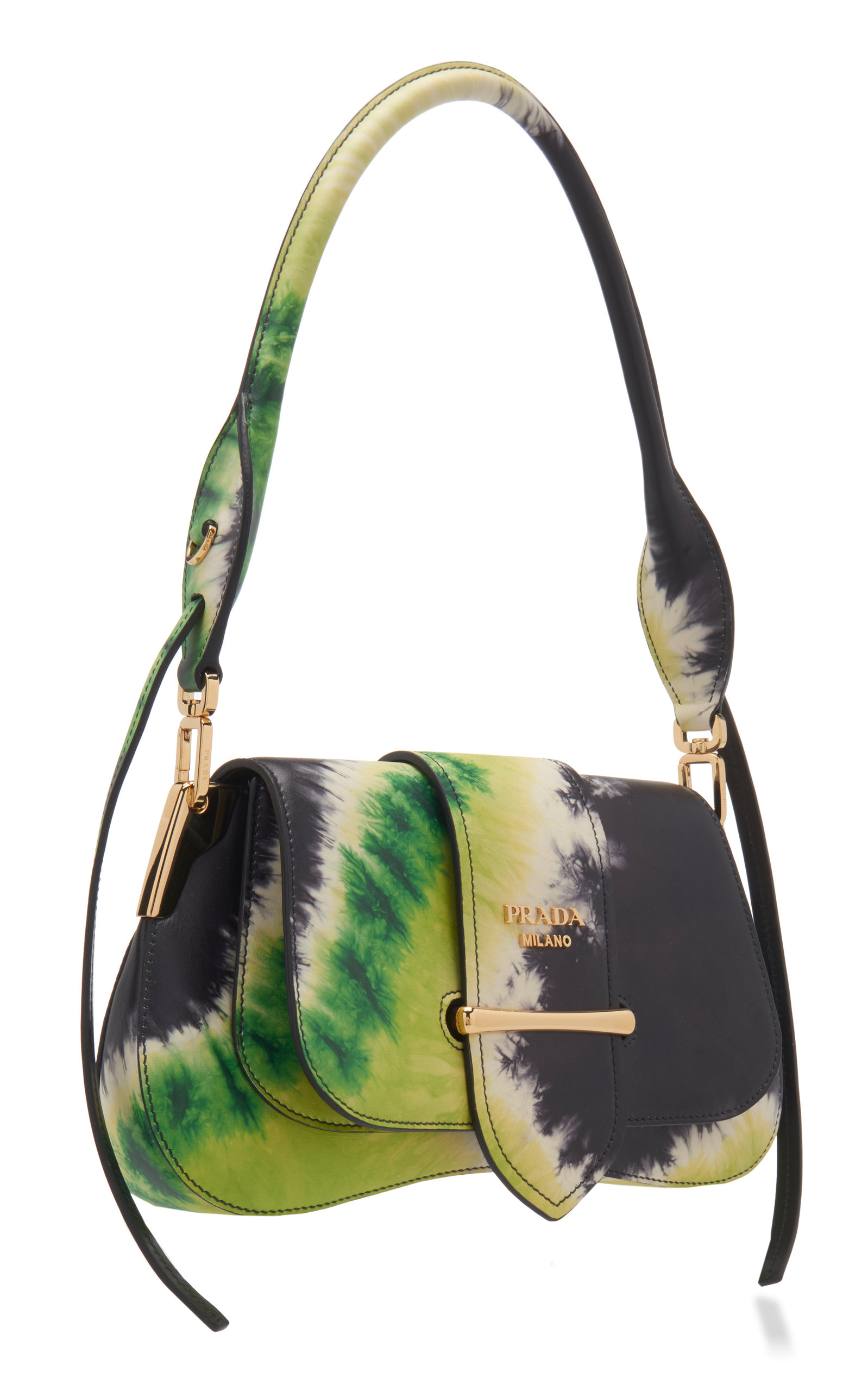 ee143cba4e74 Pattina Tie-Dye Leather Shoulder Bag by Prada