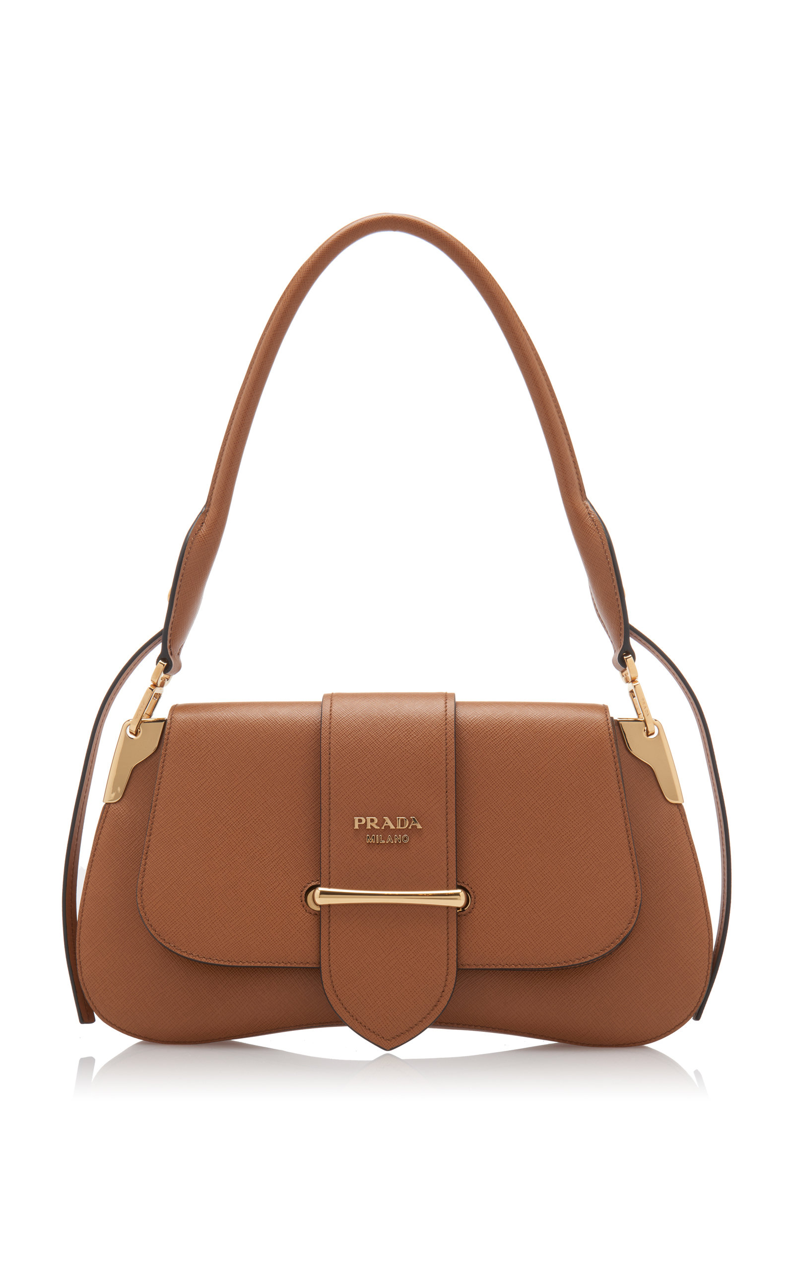 62668063bc1b1d Pattina Leather Shoulder Bag by Prada | Moda Operandi