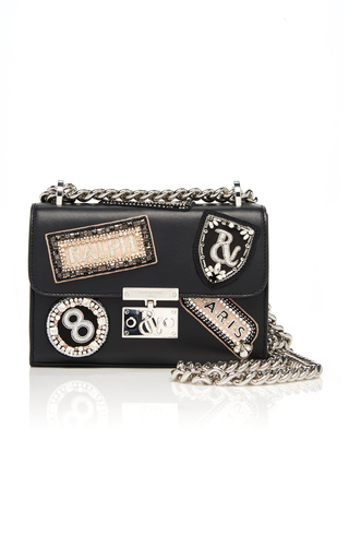26ab09589af77 Embroidered Leather Flap Crossbody Bag by Ralph Russo