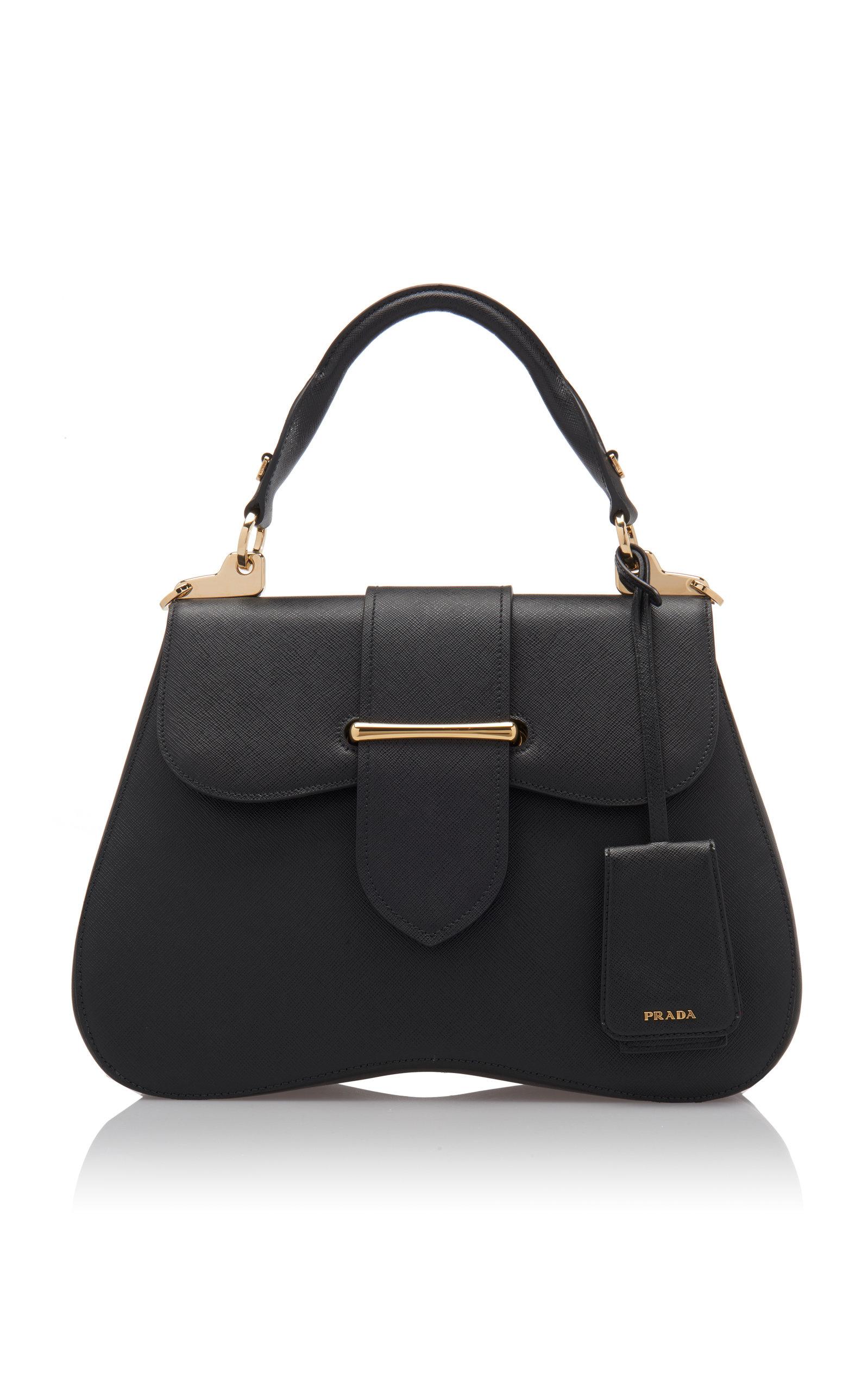 1c25fbb7f374 Large Saffiano Leather Cartella Bag by Prada | Moda Operandi