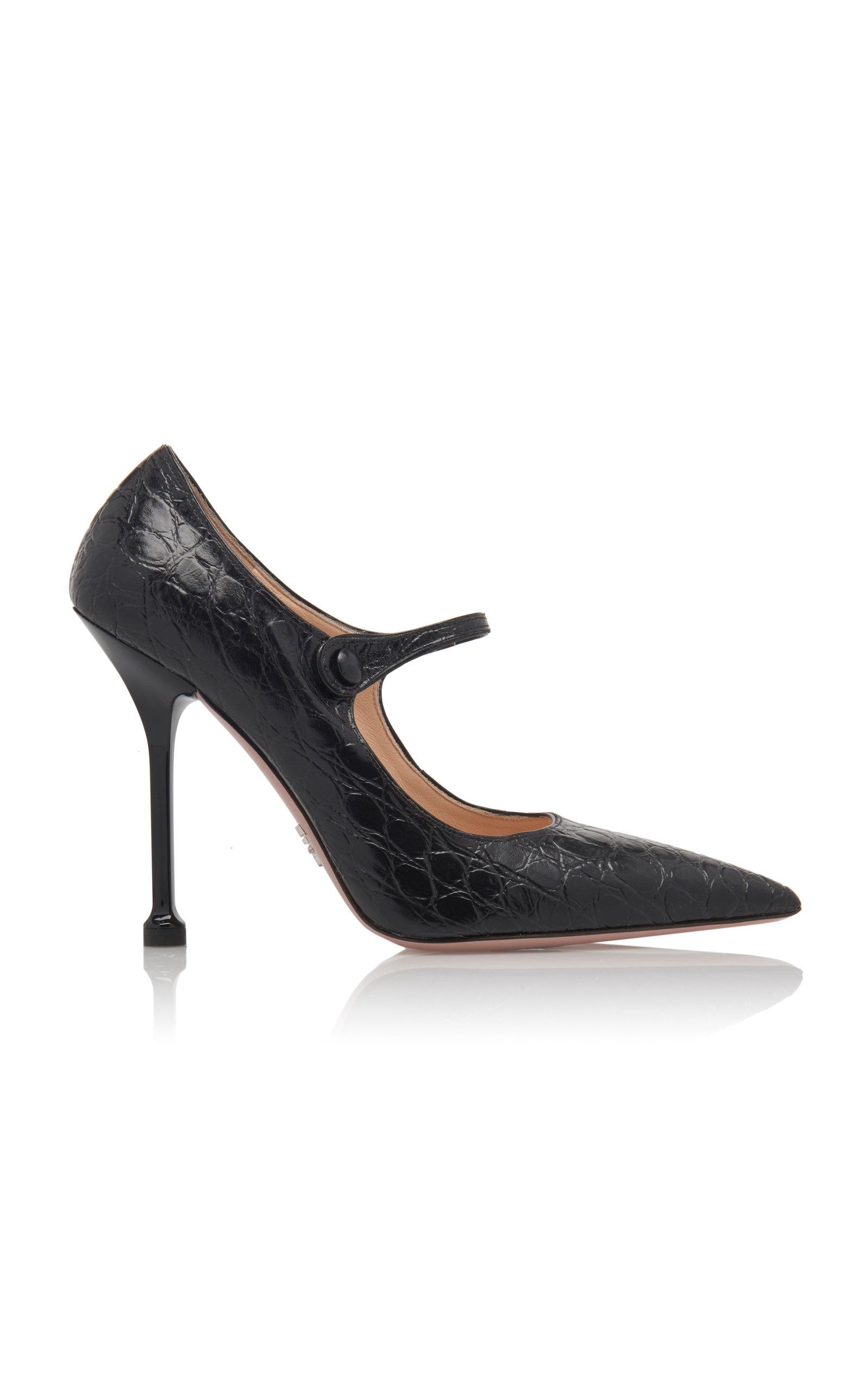f30c0033cbbf0 Embossed Stiletto Mary Jane Pumps