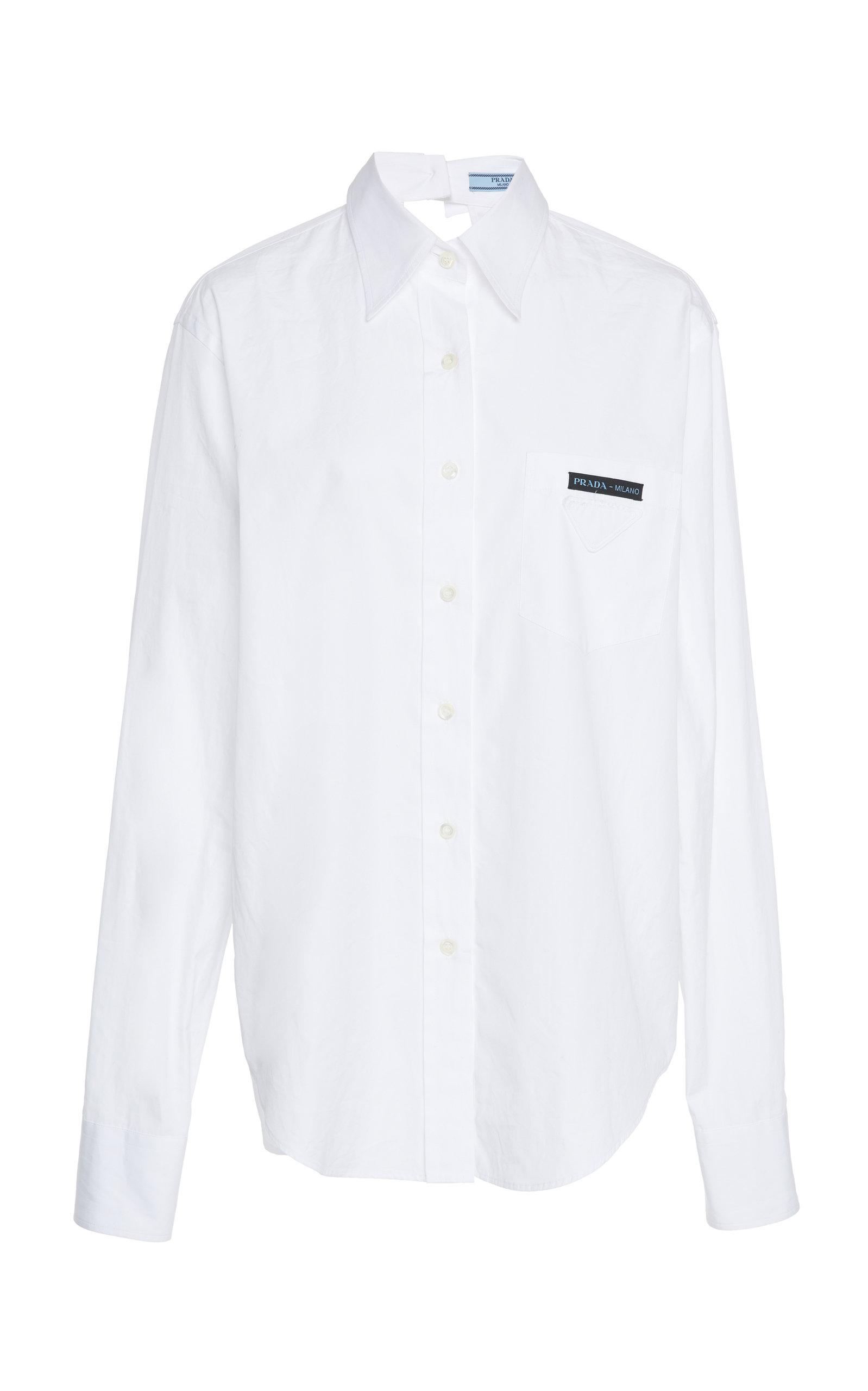 b4c89b63 Cutout Cotton-Poplin Shirt