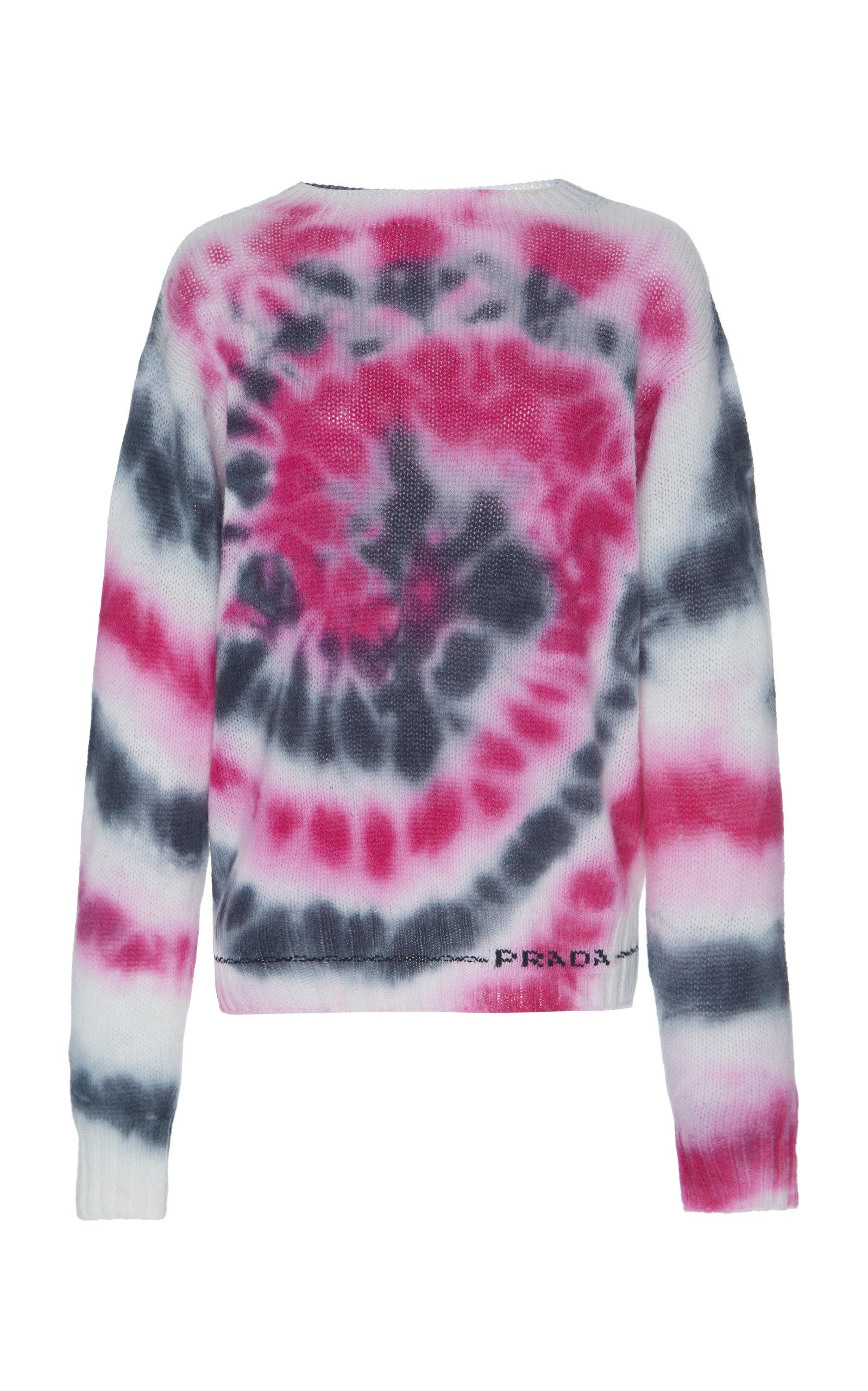 Ti- Dye Wool Cashmere Knit Sweater, Multi