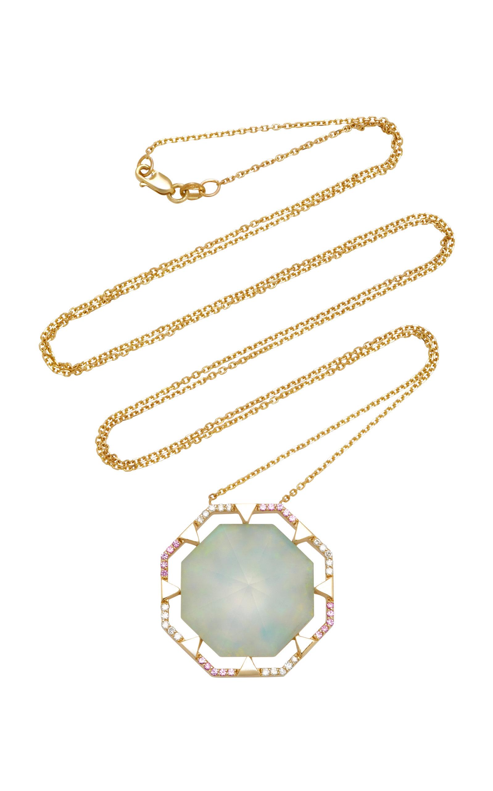 ELE KARELA 9K Gold And Multi-Stone Necklace