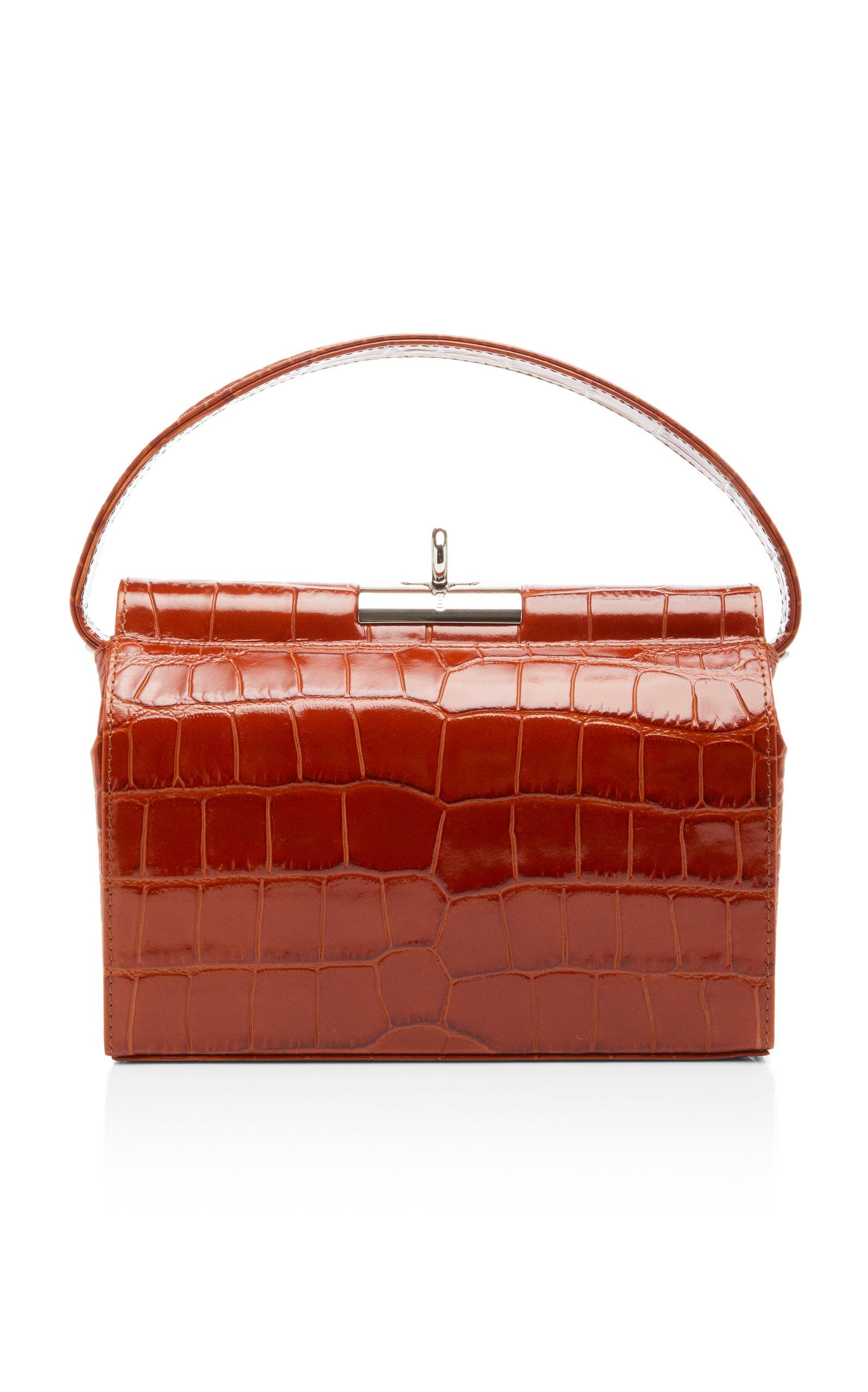 ed37bf654d Milky Large Croc-Effect Leather Top Handle Bag by gu_de   Moda Operandi
