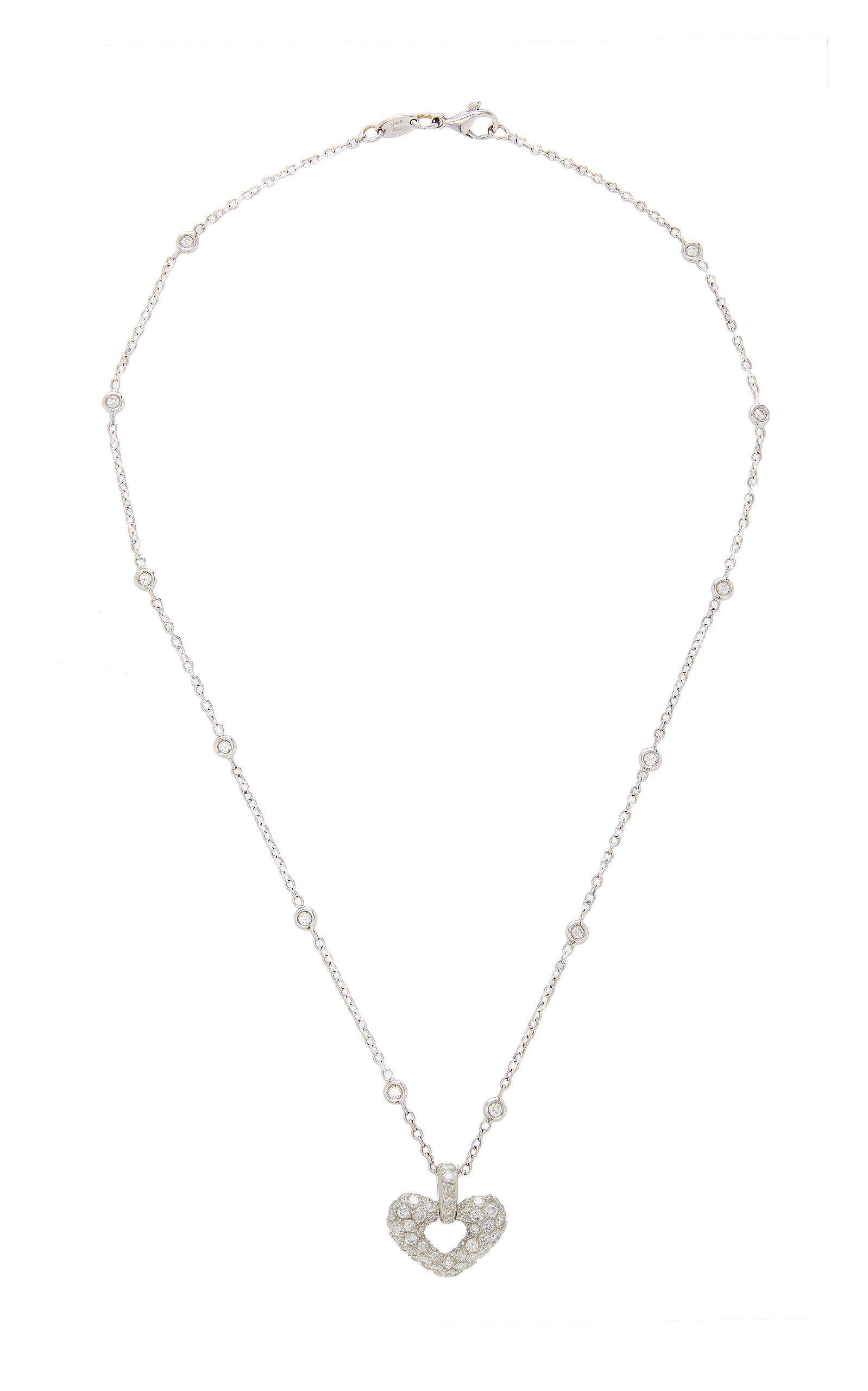 GIOIA | Gioia 18K White Gold Platinum And Diamond Necklace | Goxip