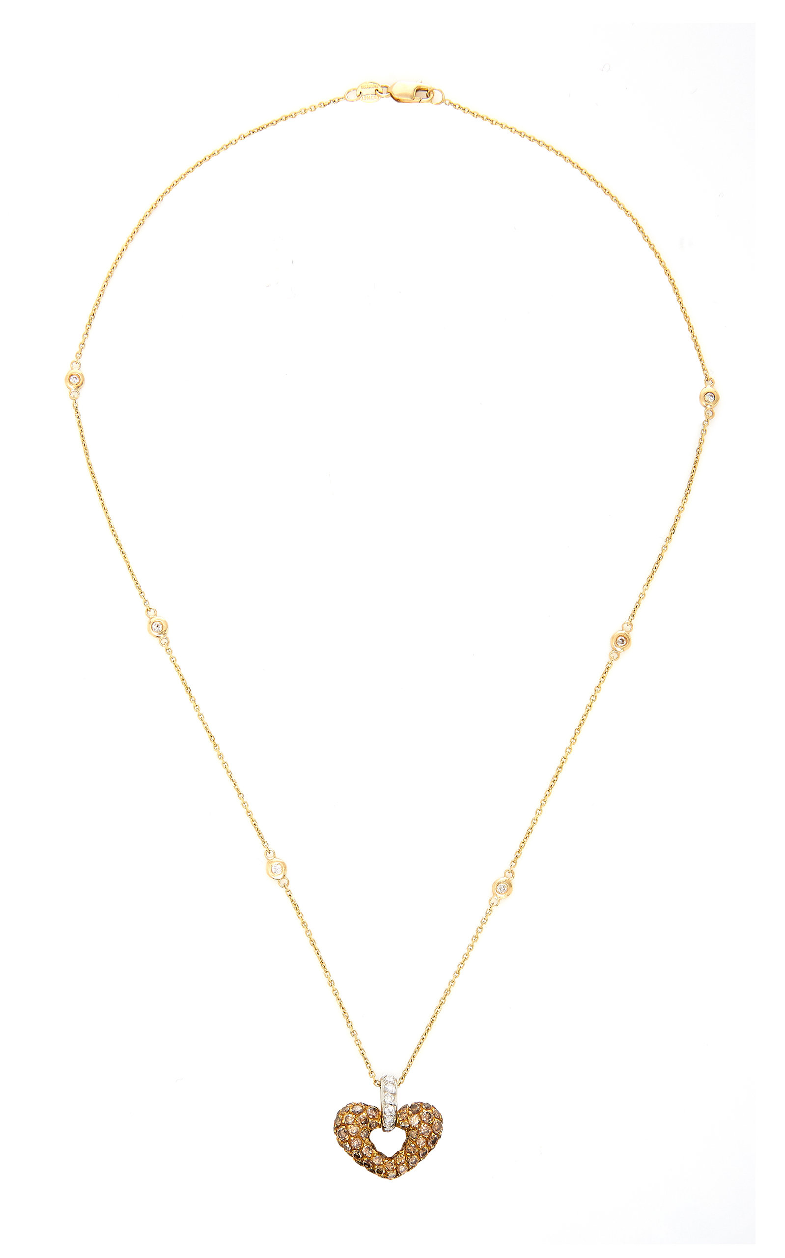 GIOIA | Gioia 18K Gold Platinum And Diamond Necklace | Goxip
