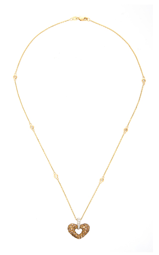 GIOIA | Gioia 18K Gold Platinum and Diamond Necklace | Goxip