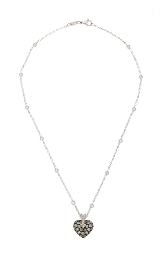 GIOIA | Gioia 18K White Gold Platinum and Diamond Necklace | Goxip