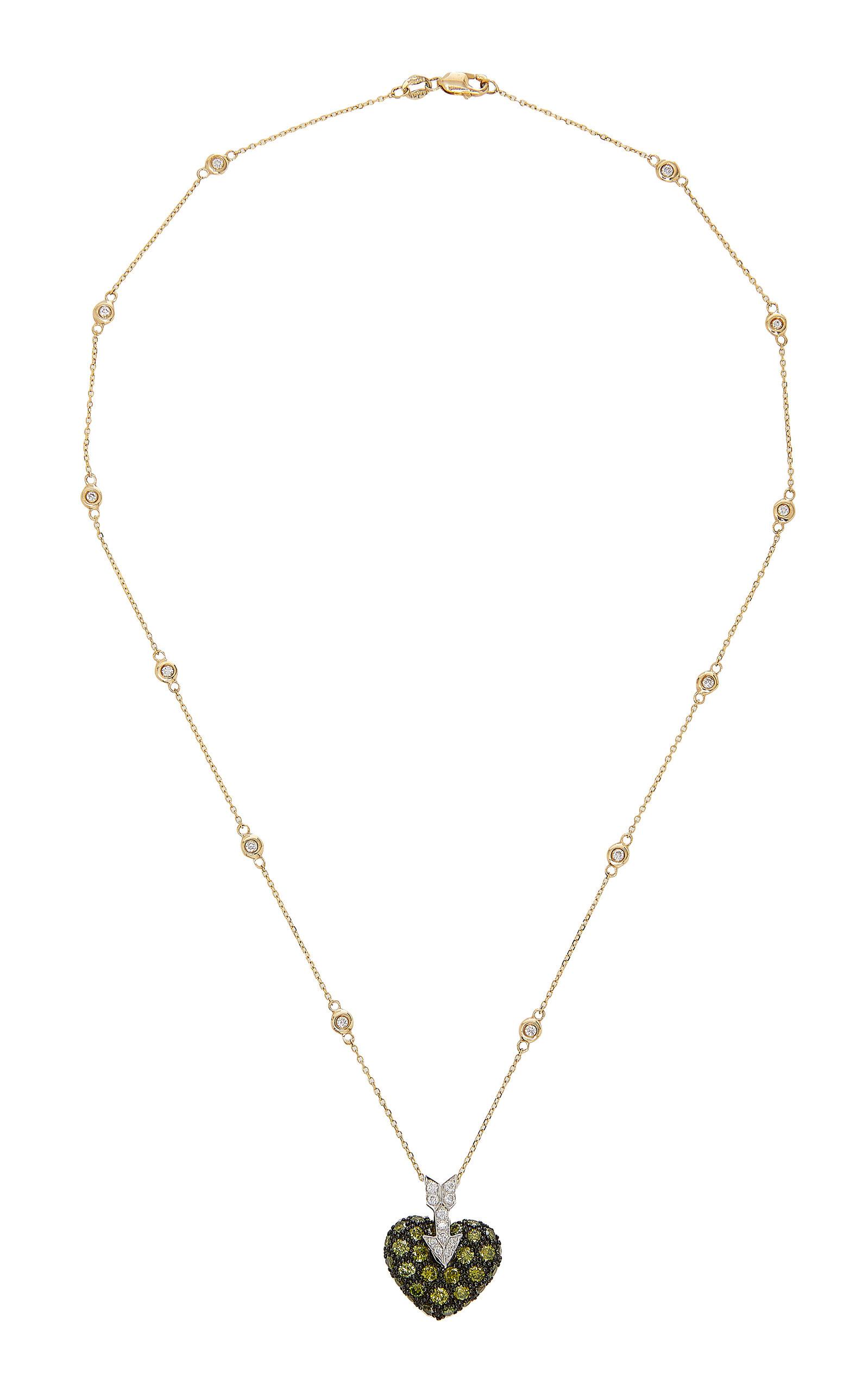 GIOIA | Gioia 18K Gold Diamond Necklace | Goxip
