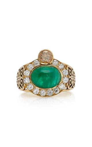 DONNA HOURANI   Donna Hourani Composure 18K Gold Emerald and Diamond Ring   Goxip