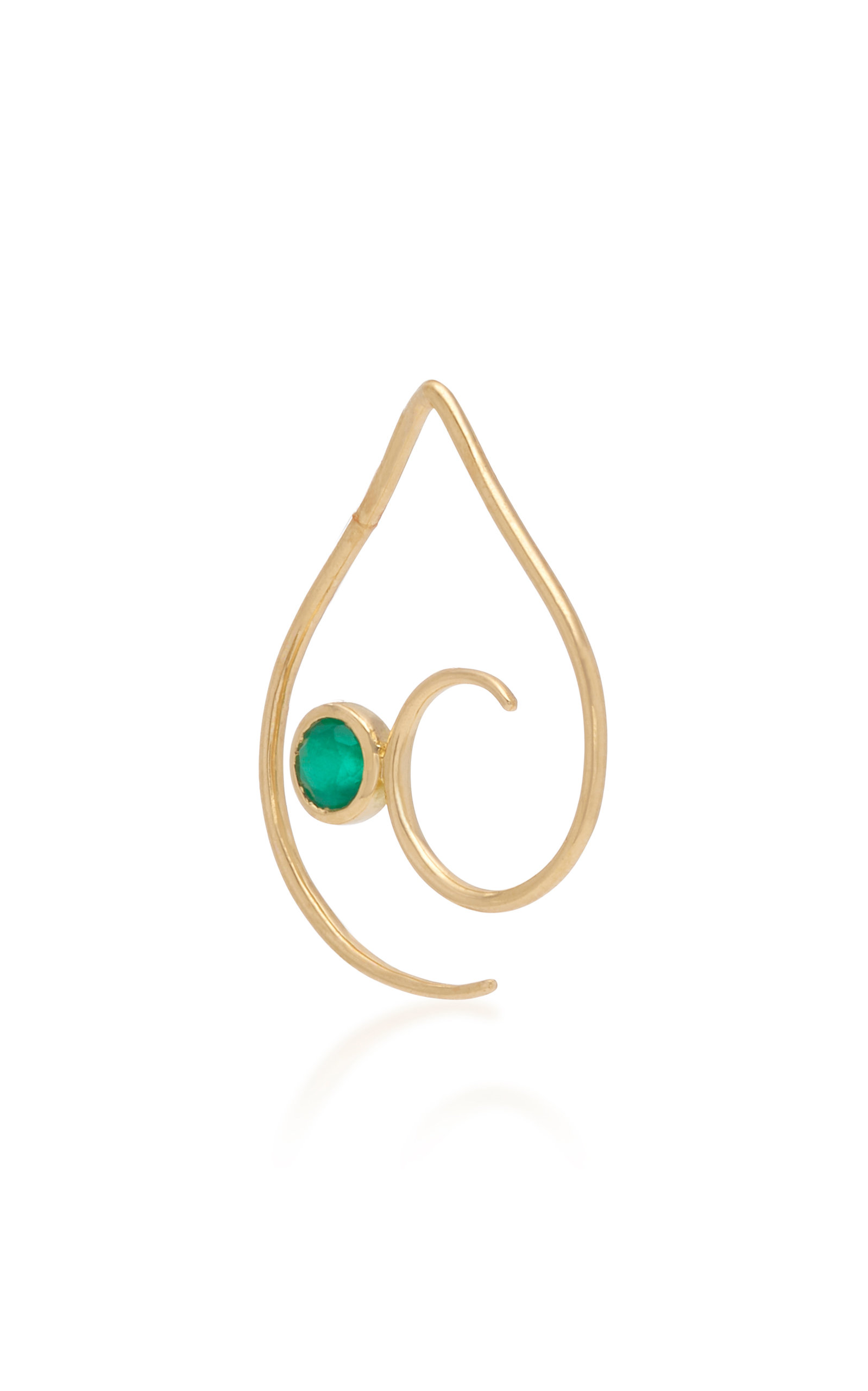 DONNA HOURANI Empathy 18K Gold And Emerald Earring