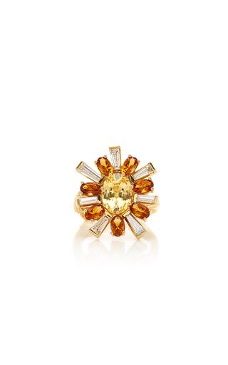 MIMI SO | Mimi So 18K Gold Sapphire Citrine and Diamond Ring | Goxip