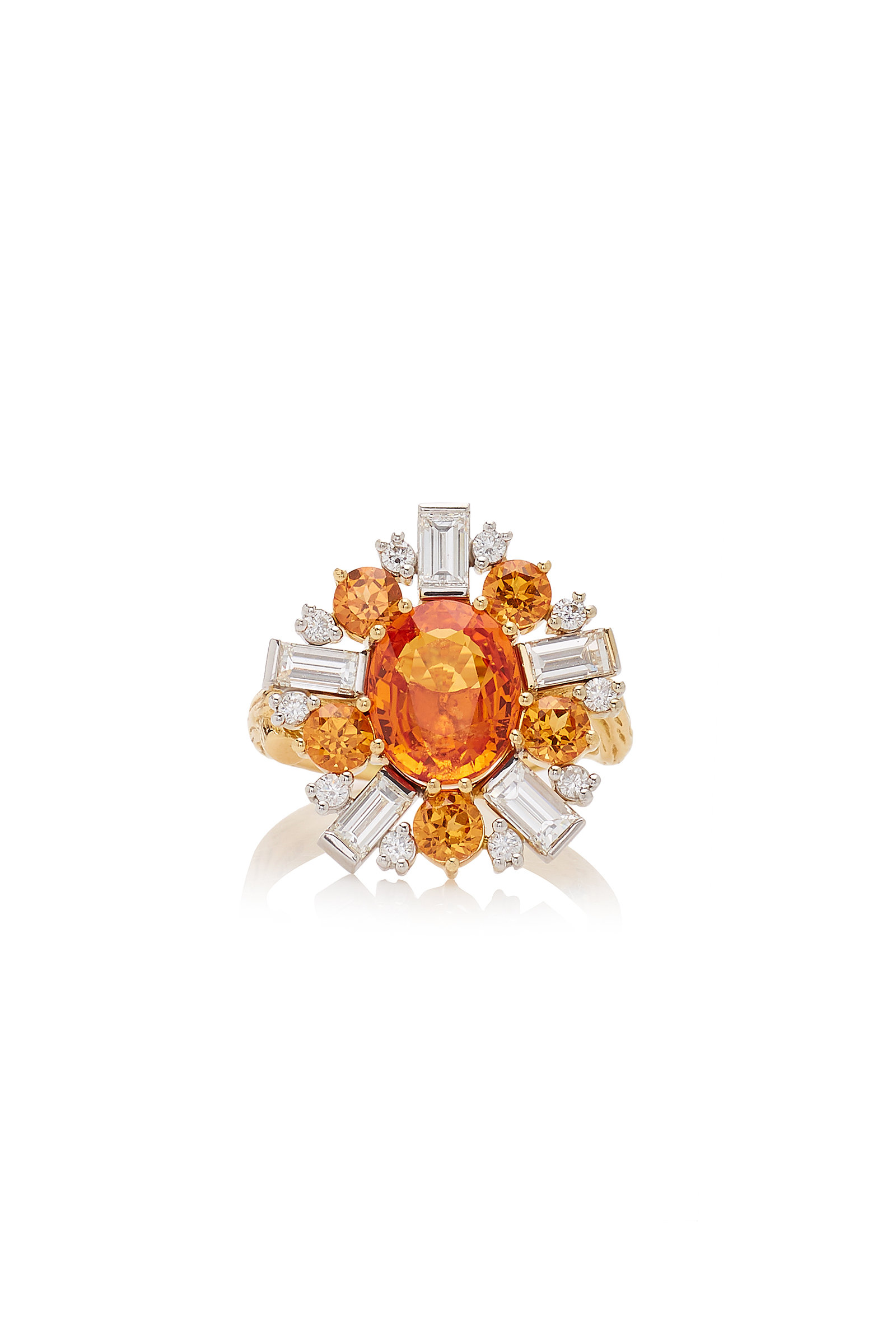 MIMI SO 18K Gold Sapphire Garnet And Diamond Ring in Orange