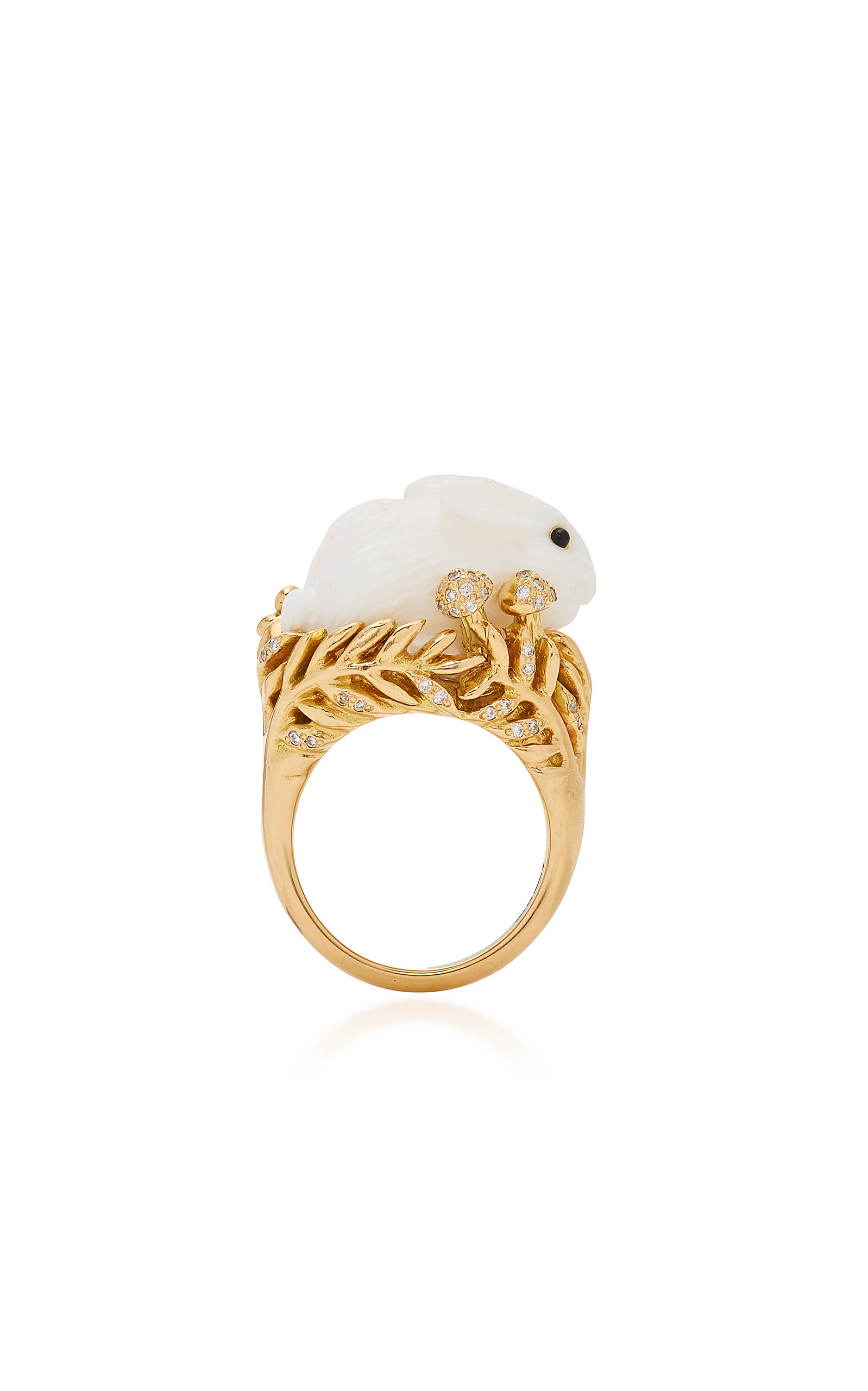 MIMI SO 18K Gold Opal And Diamond Ring in White