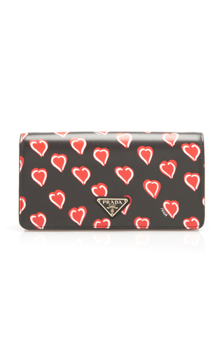 PRADA | Prada Printed Leather Chain Wallet | Goxip