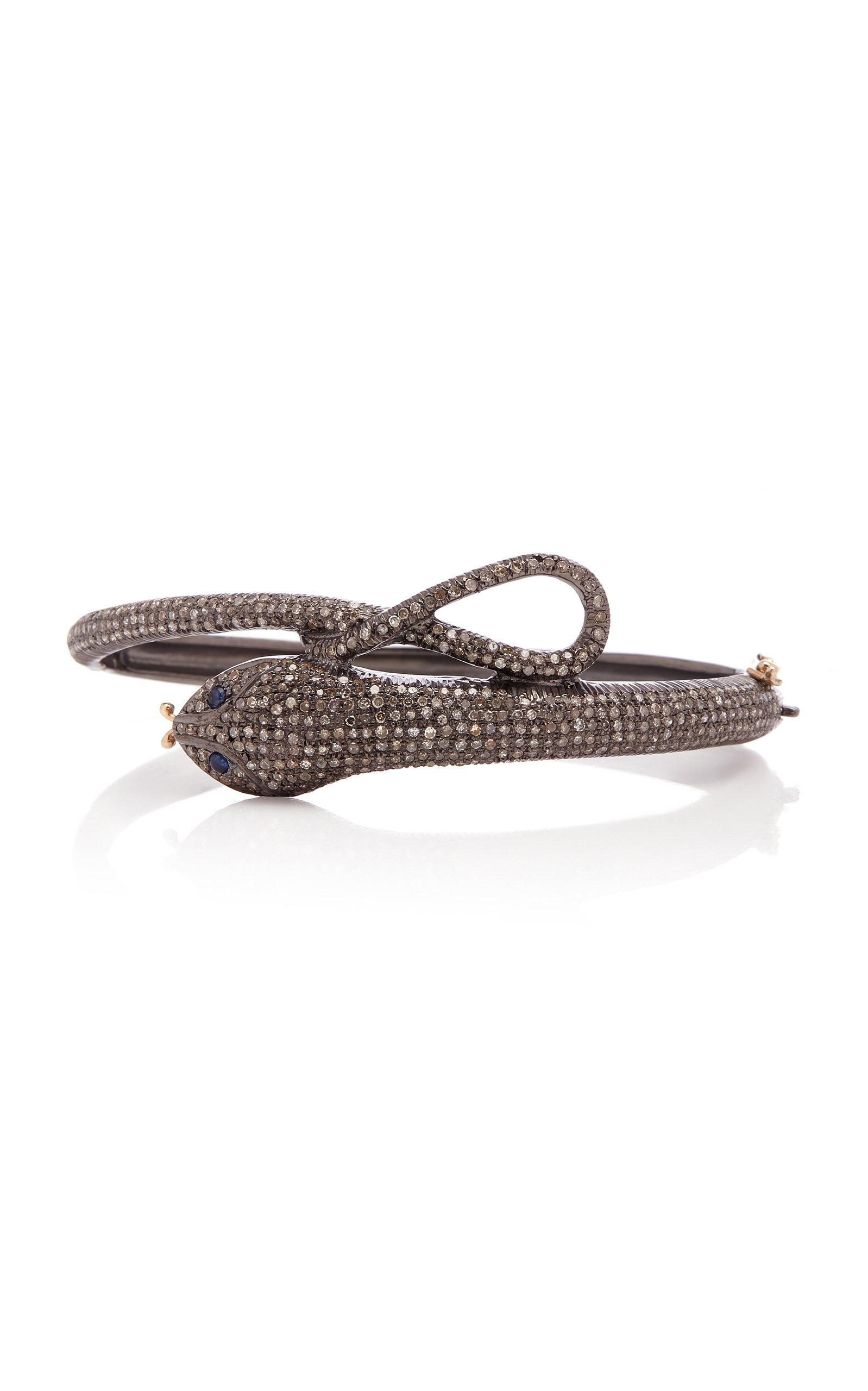 SANJAY KASLIWAL Silver Diamond And Sapphire Bracelet in Grey