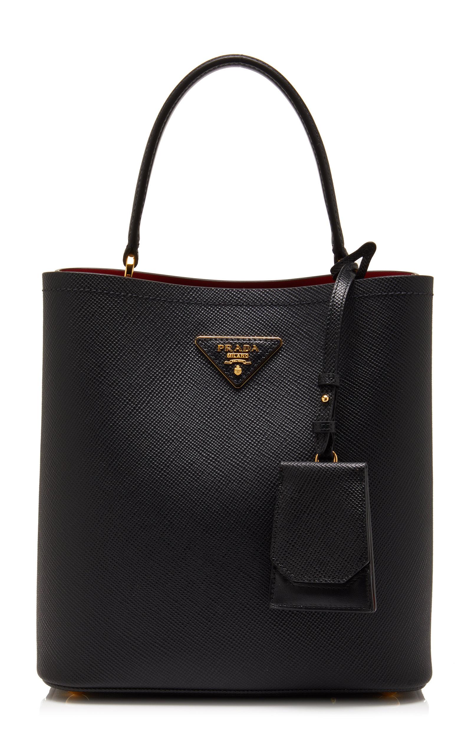 PRADA | Prada Saffiano Leather Bucket Bag | Goxip