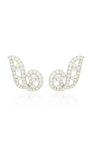 GIOIA | Gioia Vintage Platinum and Diamond Earrings | Goxip