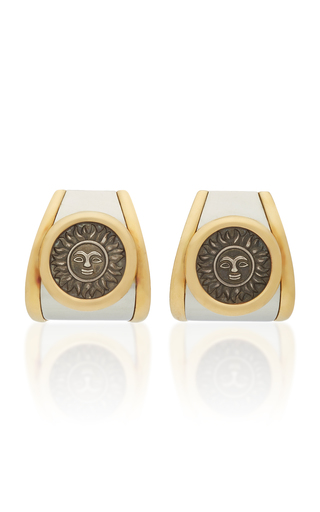 GIOIA | Gioia Vintage 18K Gold Silver and Stainless Steel Earrings | Goxip