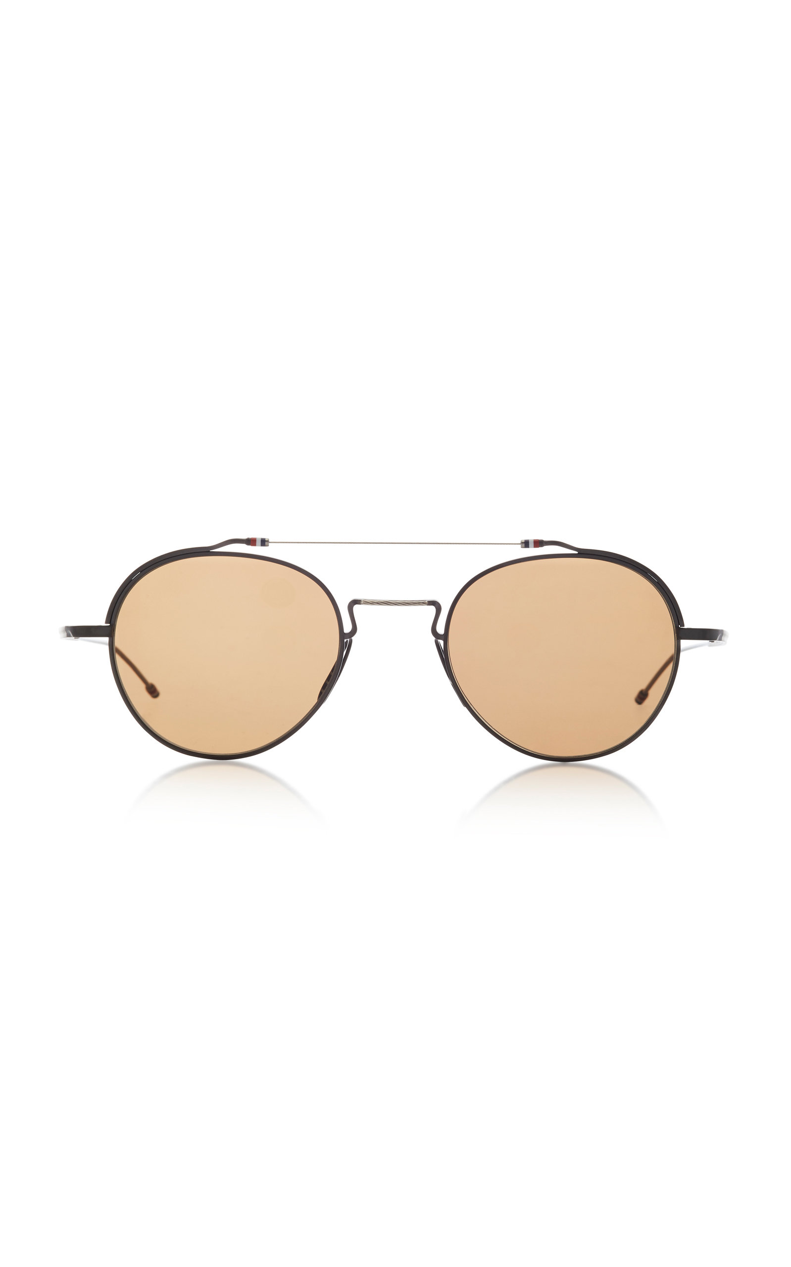 ffdaad65c4b8 Round-Frame Metal Sunglasses by Thom Browne Sun