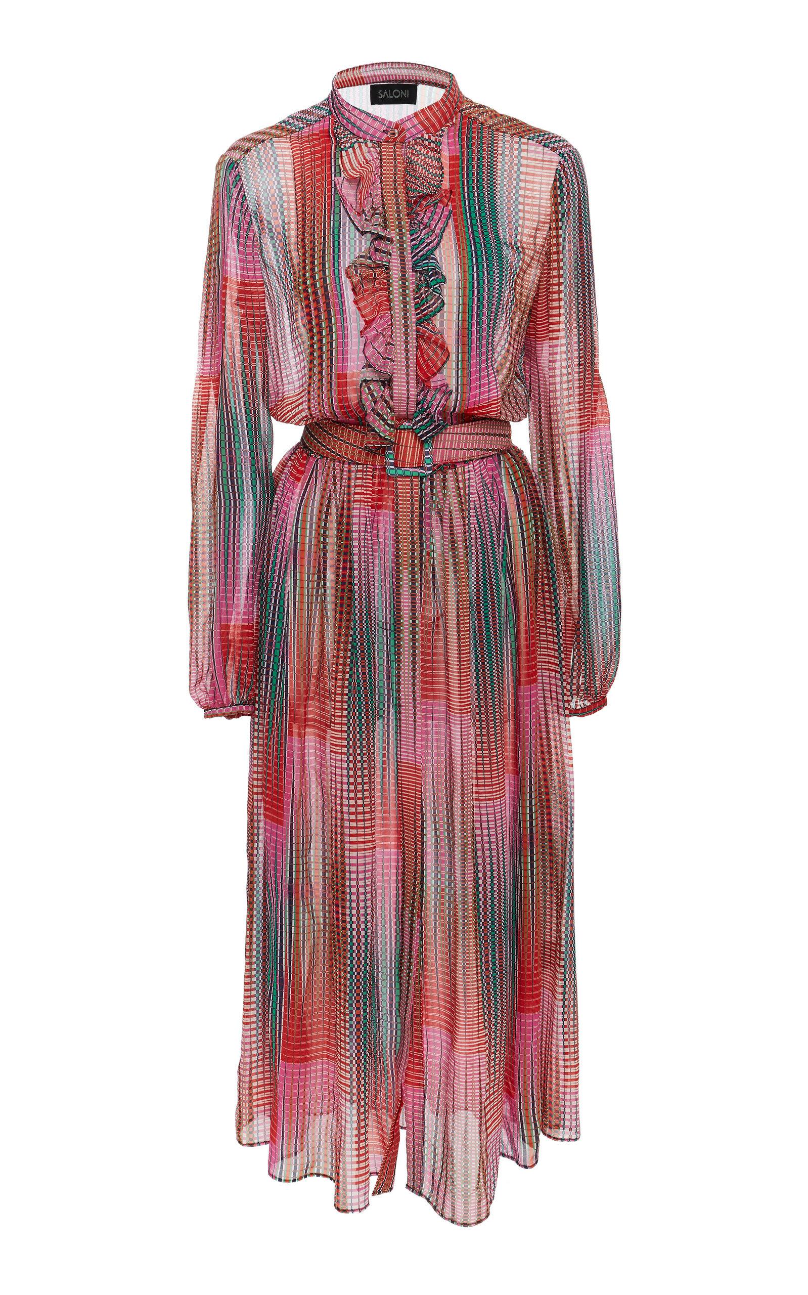 Saloni RAQUEL SILK DRESS