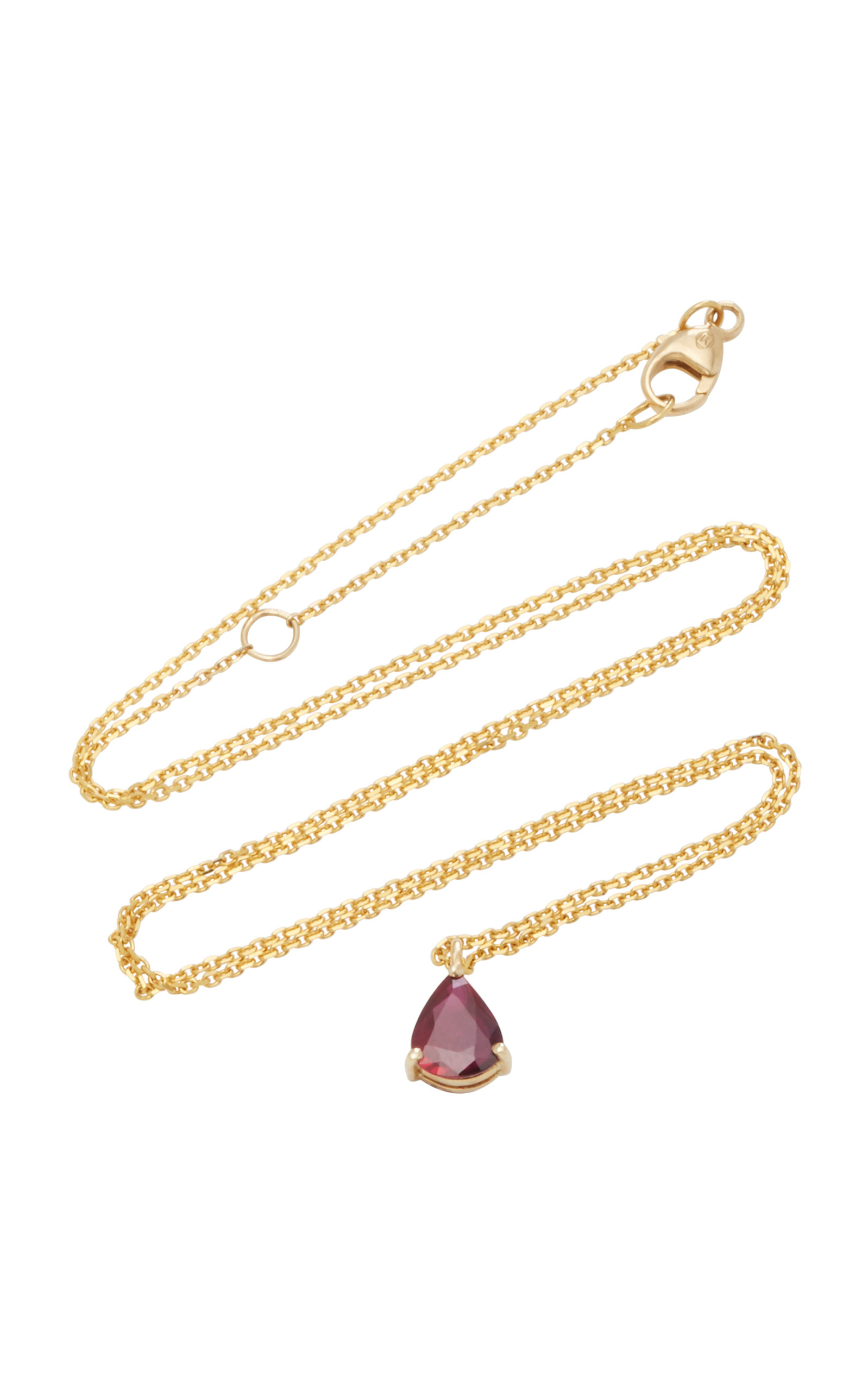 YI COLLECTION 18K Gold Ruby Necklace in Red