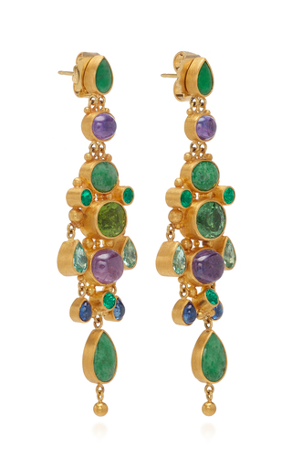 18K Gold Green Paraiba Earrings by Mallary Marks | Moda Operandi
