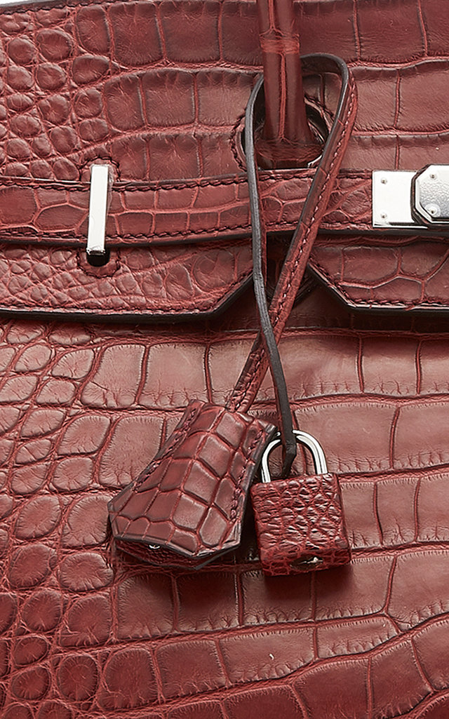 81d9e7b334cc Hermès 35cm Matte Bourgogne Alligator Birkin by Hermès
